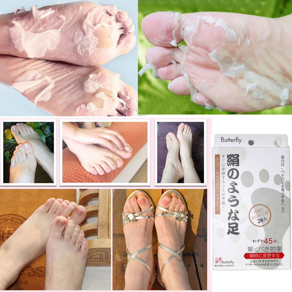 1pair Exfoliating Peel Foot Mask Baby Soft Feet Remove Callus Hard Dead  Skin New Arrivals(