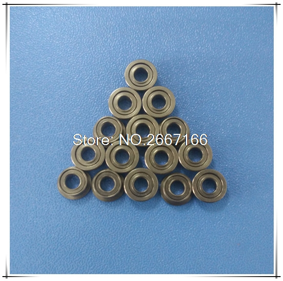 цены  10Pcs F673-2Z F673ZZ F673 zz MF63ZZ MF63 Flanged Flange Deep Groove Ball Bearings 3 x 6 x 2.5mm Free shipping High Quality