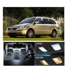 Free Shipping 11Pcs/Lot Xenon White Package Kit LED Interior Lights For KIA Sedona 2007-2012