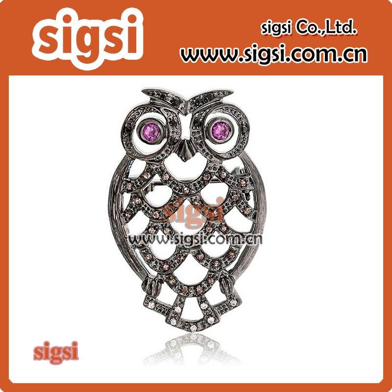 cute rhinestone owl broochcute rhinestone owl brooch
