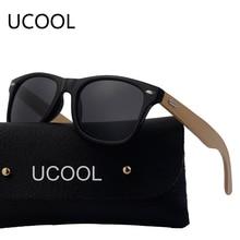 UCOOL 2017 Nuevo Diseñador de la Marca gafas de Sol de Madera De Bambú Para Las Mujeres Hombres Gafas Gafas Oculos gafas Gafas de Sol Madeira Con Caja