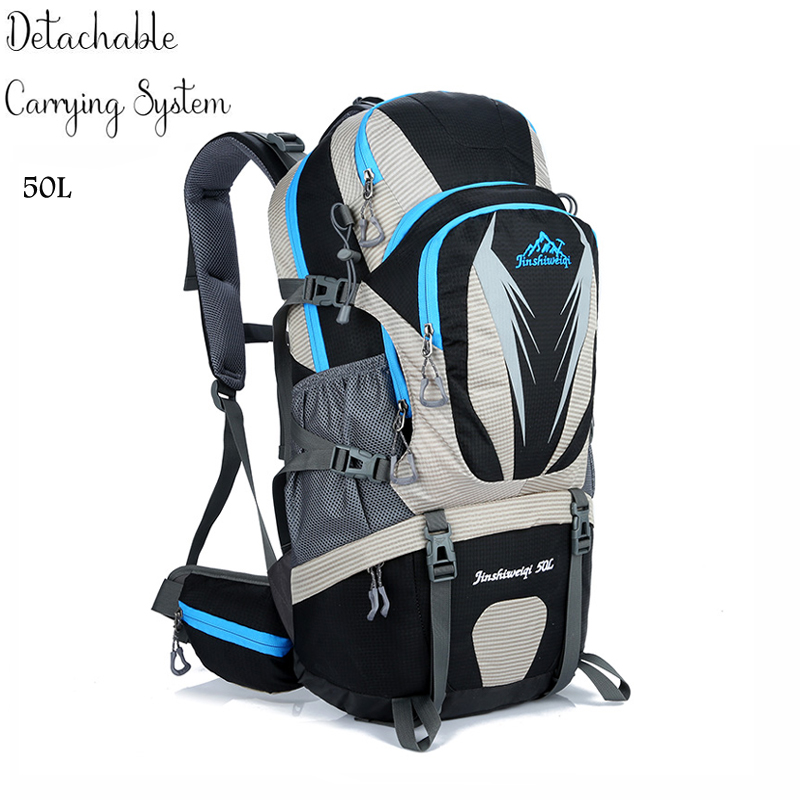50L Waterproof Hiking Backpacks Travel Backpack Unisex Bags Camping Equipment Sports Bag Tourist Outdoor Camping Backpack free knight hiking backpack 50l waterproof sports bag multifunctional outdoor bags camping hunting travel treck mochila backpack