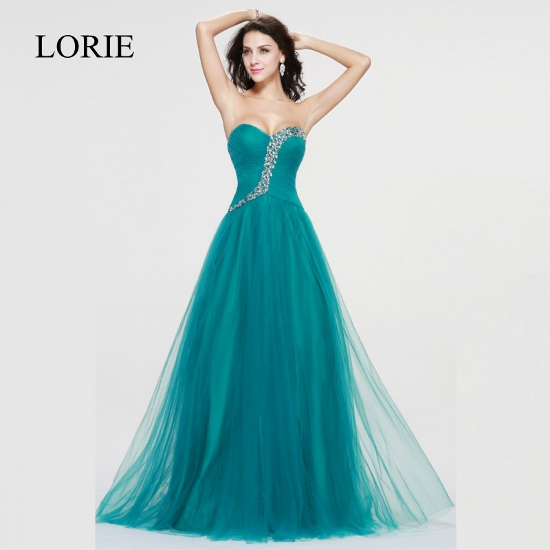Elegant Women Long Prom Dresses 2018 Beadeing Sweetheart Floor ...