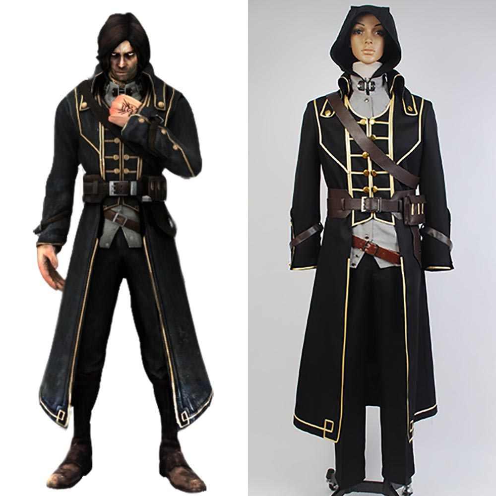 Ditolak Cosplay Corvo Attano Kostum Karnaval Cosplay Costume Kualitas Tinggi Pria Halloween Karnaval Dewasa Pria Penuh Set