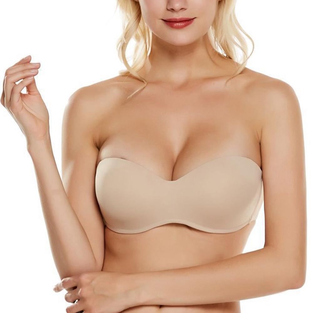Women Strapless Bra Sexy Lingerie lADIES Push up Bras Underwear Fashion Underwired Bralette BH Tops A B C D DD Cup 2