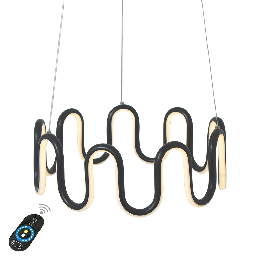 Ecolight Modern LED Pendant Light Creative Ring Black Painted Hanging Lamp for Bedroom Dinging Room 16 85-260V InputEcolight Modern LED Pendant Light Creative Ring Black Painted Hanging Lamp for Bedroom Dinging Room 16 85-260V Input