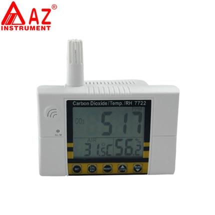 Monitor de calidad del aire medidor de humedad y temperatura medidor Detector de dióxido de carbono CO2 Detector de Gas analizador CO2 metros 2 en 1 AZ7722