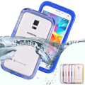 KISSCASE Clear Waterproof Case For Samsung Galaxy S5 S4 S3 Luxury Underwater Back Cove For Galaxy S5 S4 S3 Sport Diving Case Bag