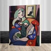 Znani Picasso, Van Gogh obraz na ścianie rysunku numerami unikalny prezent akryl kolorystyka obraz olejny numerów Oprawione