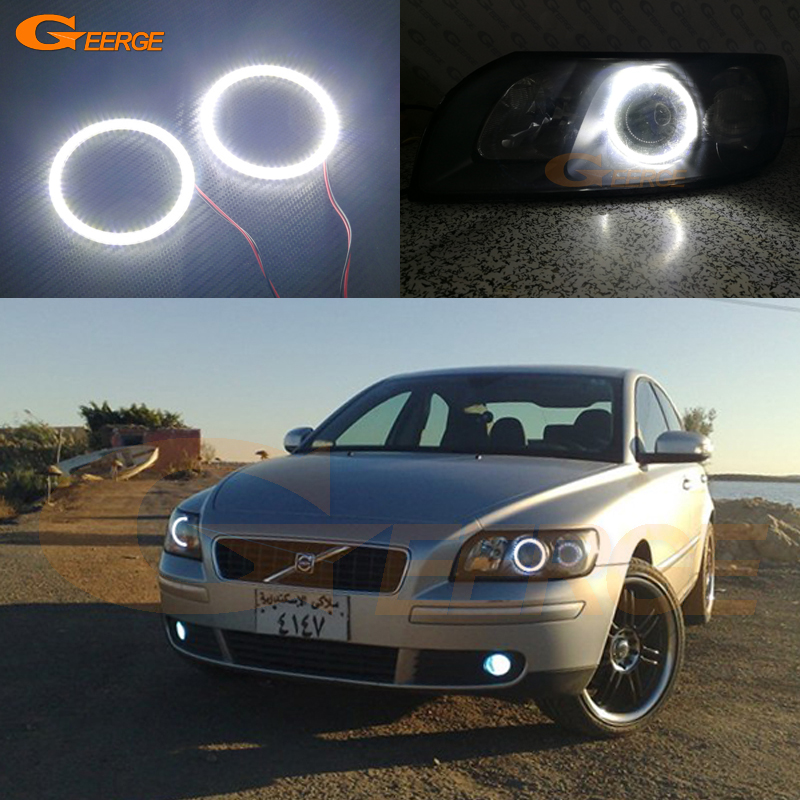 For Volvo S40 V50 2004 2005 2006 2007 headlight Excellent DRL Ultra bright illumination smd led Angel Eyes kit halo ring for ford maverick 2005 2006 2007 excellent angel eyes ultra bright illumination smd led angel eyes kit halo ring