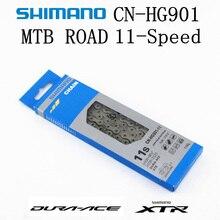 シマノDURA ACE xtr HG901 HG900チェーン11 speedマウンテンバイク自転車チェーン硬膜エースCN HG901 mtbロードバイクHG X SIL TECチェーン
