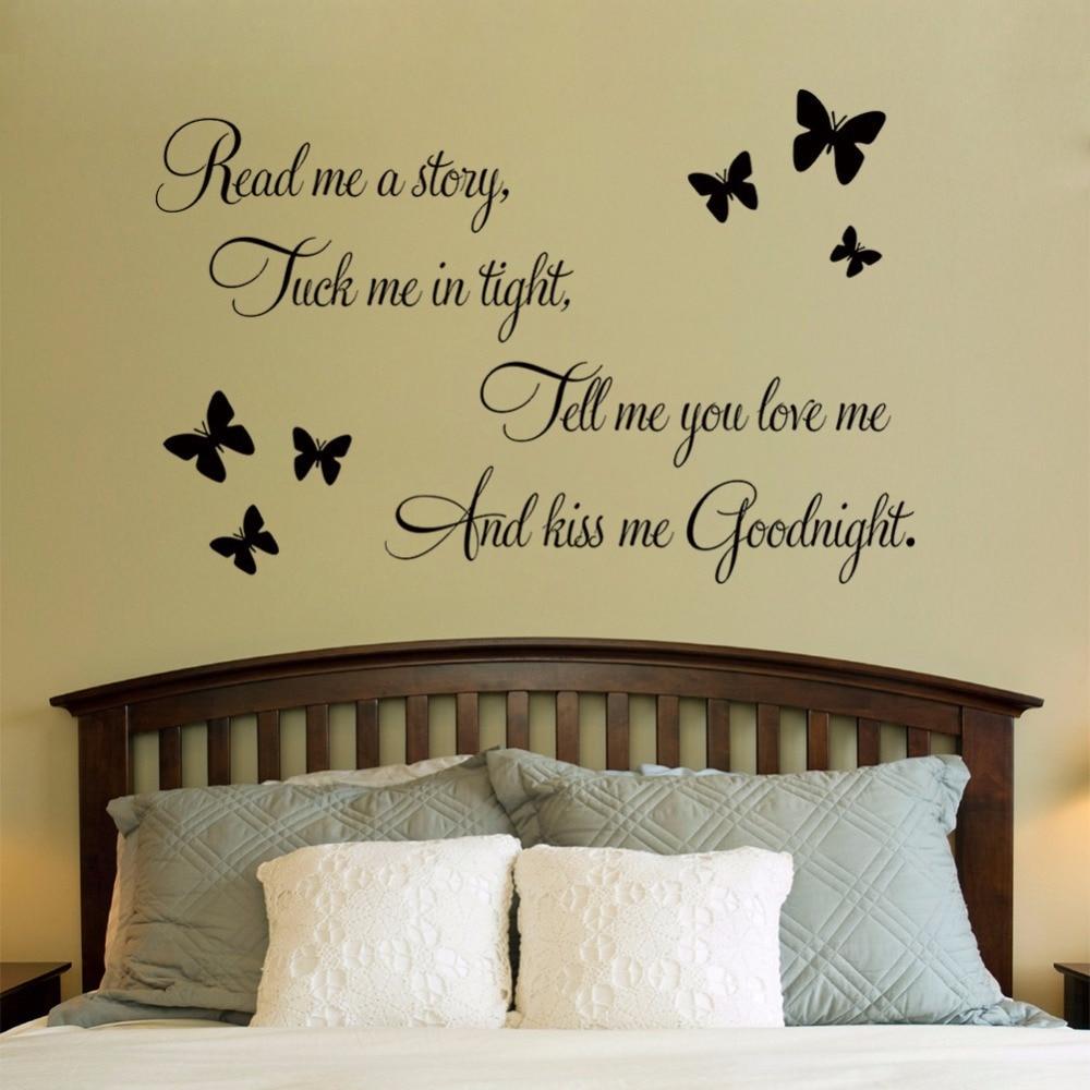 Aliexpress.com : Buy DIY Sentences Kiss Me Goodnight Butterfly Wall ...