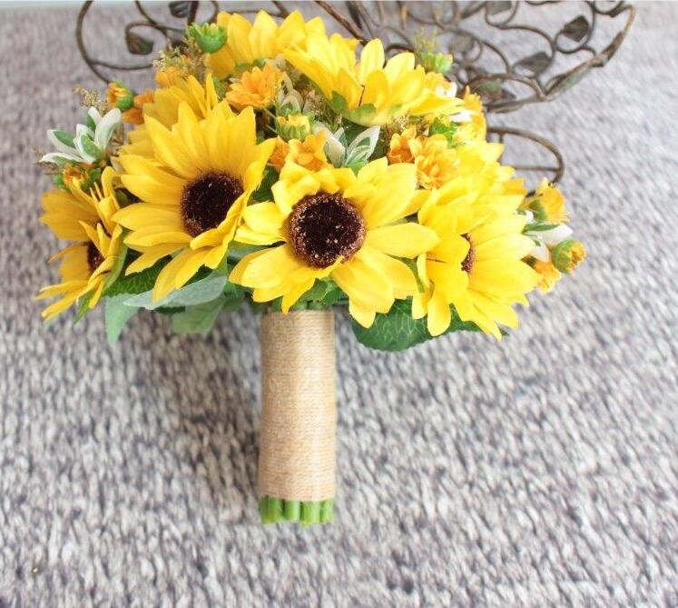 yellow wedding bouquets for brides