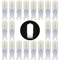 20PCS 2017 NEW LED G9 Light Bulb 3W=30W SMD2835 Lamparas LED Lamp G9 LED 220 240V Ampoule Chandelier Lights Warm/Cold White