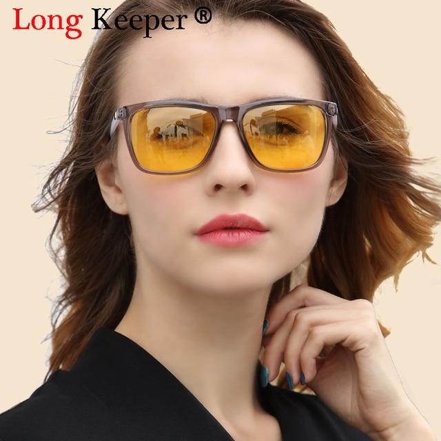 b04c9a4350 Long Keeper Men Yellow Driving Night Vision High Quality Women Polarized  Sunglasses Safety Sun Glasses UV400