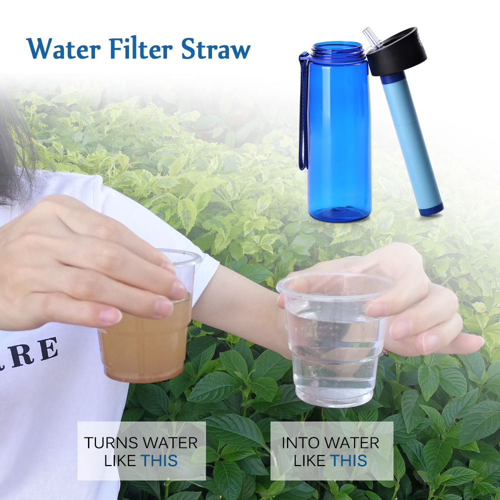 Water Bottle Outdoor Sports Water Filtration Purifier Water Bottle Replacement Filter Bicycle Sports Emergency Drinking Bottles