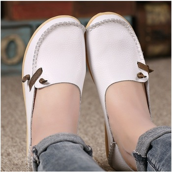 Women Flats Genuine Leather Shoes Woman Loafers Non-Slip Flat Shoes Women Moccasins Fashion Casual Shoes Plus Size Zapatos Mujer