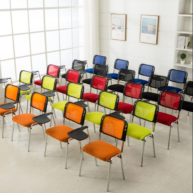 Training chair with clipboard folding student desks and chairs integrated reporter staff office chair simple conference chair