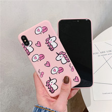Pink Unicorn and Hearts Soft Phone Case for iPhone