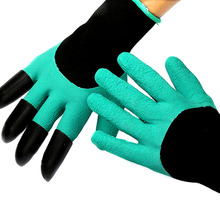 1 pair Home Cleaning Latex Garden Glove With Fingertips Claws Glove Raking Digging Planting DROP SHIPPING OK