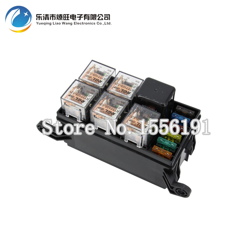 fuse box promotion shop for promotional fuse box on com 6 way auto fuse box assembly 1pcs 12v 40a 5pcs 4pin 12v 40a relay auto car insurance tablets fuse box mounting fuse box
