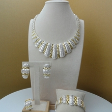 Yuminglai Dubai Gold  Jewellery African Jewelry Sets for Women FHK6141