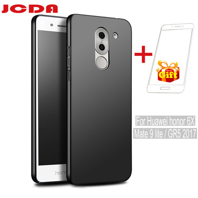 For huawei honor 6x case huawei honor 6x cover matte hard shell for huawei honor 6x glass huawei GR5 2017 mate 9 lite case gift