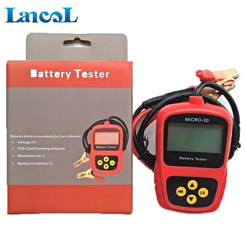 Lanco MICRO-30 analyseur de testeur de batterie vente chaude moto 12 V avec analyseur de système d'analyse de batterie numérique LCD