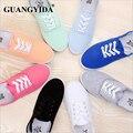 Nuevas mujeres de la manera zapatos de lona transpirable marea mujeres de la marca zapatos planos para mujer calza el tamaño 35-42