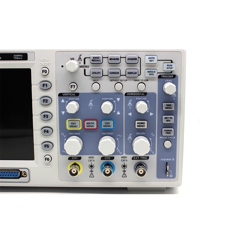 Hantek MSO5202D Digital Oscilloscope USB 200Mhz 2 Channels Hantek Osciloscopio +16Channels Logic Analyzer + External Trigger (2)