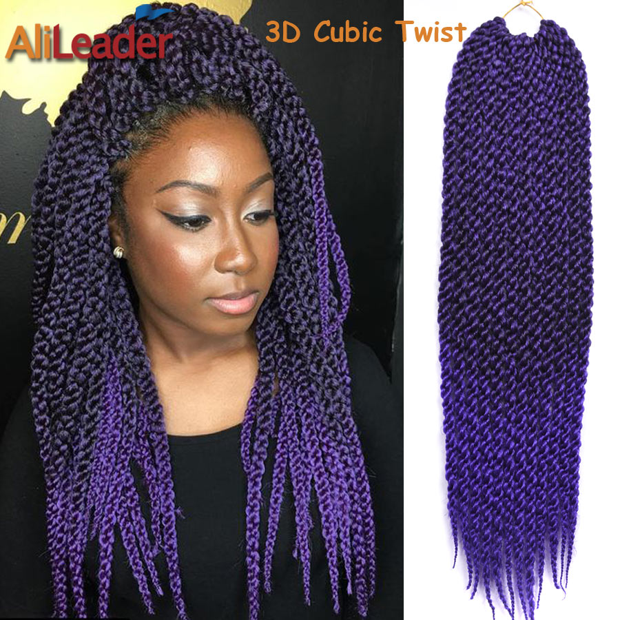 Crochet Xpression : New Stylish 3d Split Cubic Twist Crochet Braids 22 120g Pack 12root ...