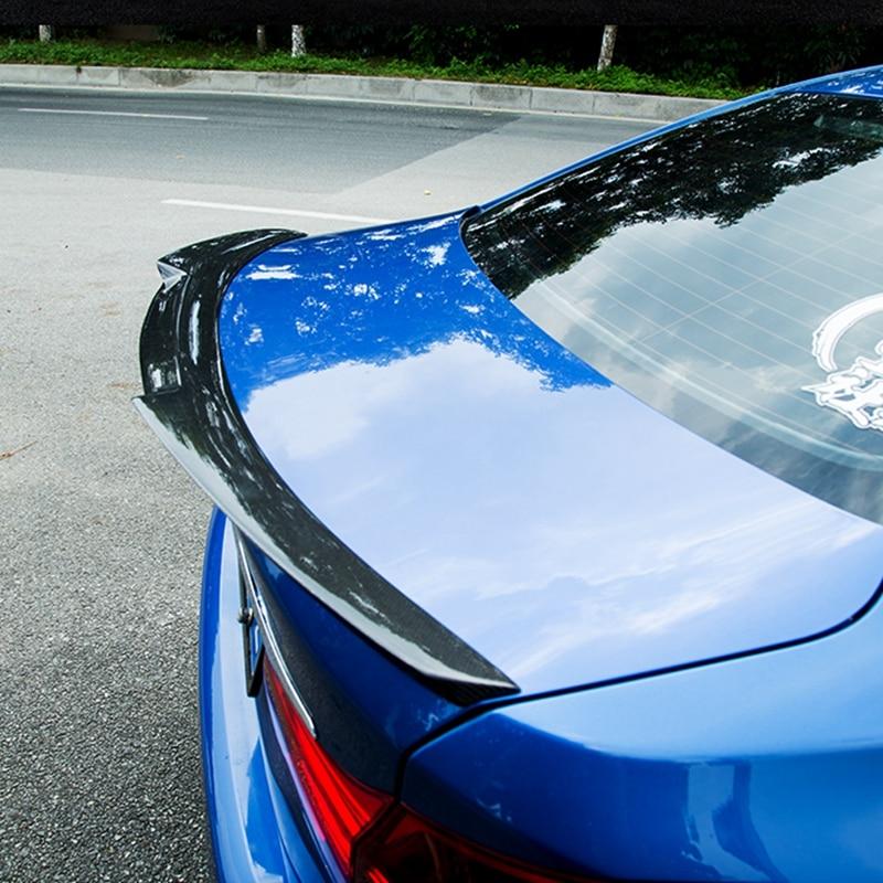 Carbon Fiber Material Spoilers Wings For BMW 1 Series 118 Sedan M4 Style Real Carbon Spoiler For BMW 1 Gloss Black
