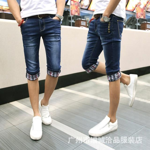 54645b7e05 2019 de verano de los hombres pantalones vaqueros de la versión coreana de  la denim Pantalones