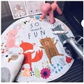 Multi-Function Baby Lovely Animals Fox Giraffe Pattern Play Mats As Buggy Bag Crawling Rug Carpet Cartoon Toys For Kids