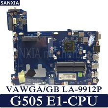 Купить с кэшбэком KEFU VAWGA/GB LA-9912P Laptop motherboard for Lenovo G505 Test original mainboard E1 CPU