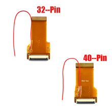 30PCS For GBA Ribbon Cable 32pin 40 Pin AGS 101 Backlit Adapter Screen Mod with cable(China)