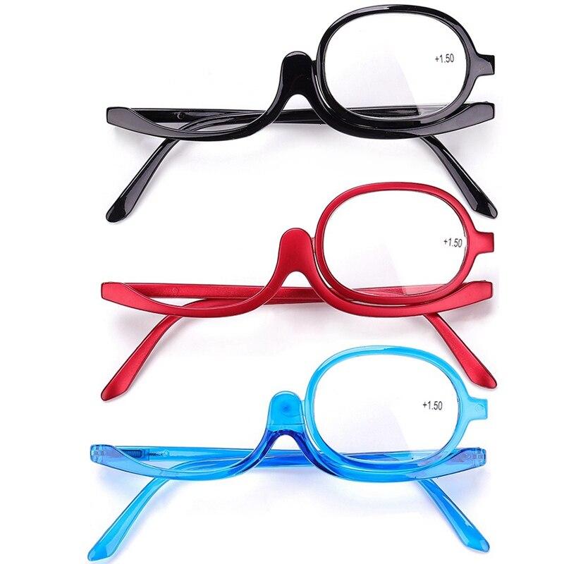 2018 Rotierenden Augen Make-up Brille Lesebrille Frauen Kosmetische Presbyopie Brillen Folding Up Brillen FüR Schnellen Versand