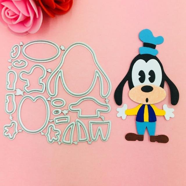 Adorável cão Corte De Metal Morre Stencils para DIY Scrapbooking Selo/álbum de fotos Decorativo Embossing DIY Cartões de Papel