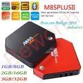 10 UNIDS Amlogic S912 Octa Core Android 6.0 TV Box 3 GB RAM 32 GB M8S Plus II 2G/16G 2.4/5G Wifi H.265 BT4.0 Kodi 17.0 4 K 1000 M LAN