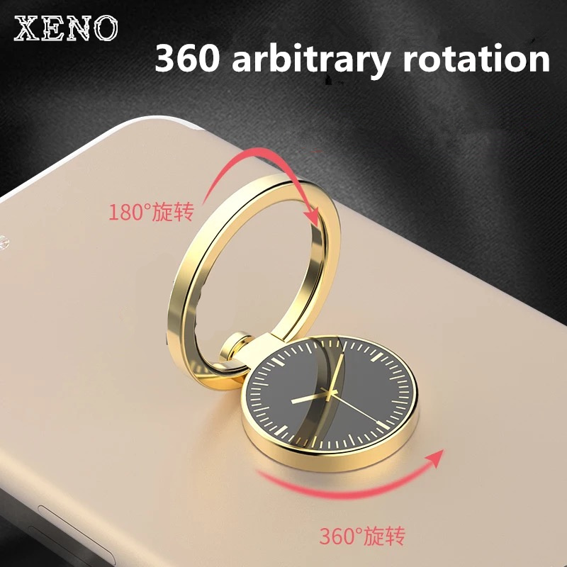 Luxury 360 Degree Metal Finger Ring Holder Smartphone Mobile Phone Finger Stand Holder For IPhone 7 6 X Samsung S9 Plus Tablet