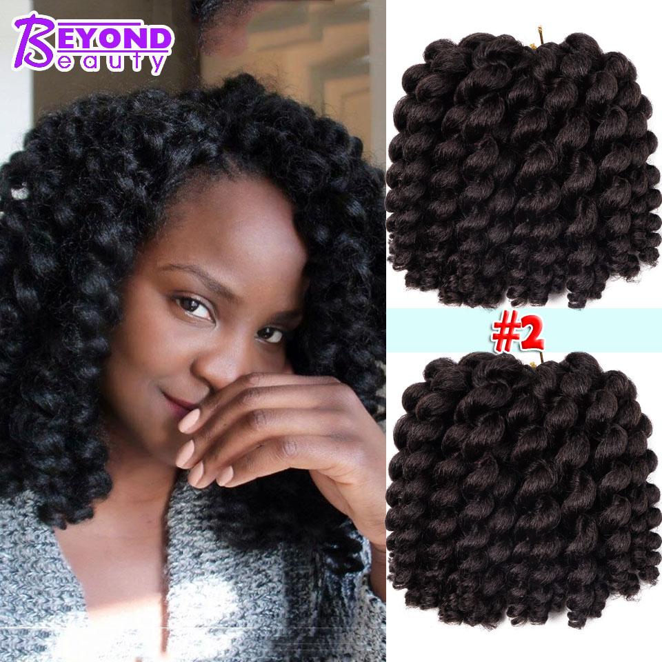 Rebond Jamaïcain Twist Crochet tresses cheveux 6 pouces Jumpy Baguette Curl Twist Tresses 22 racines Africain Collection Synthét.