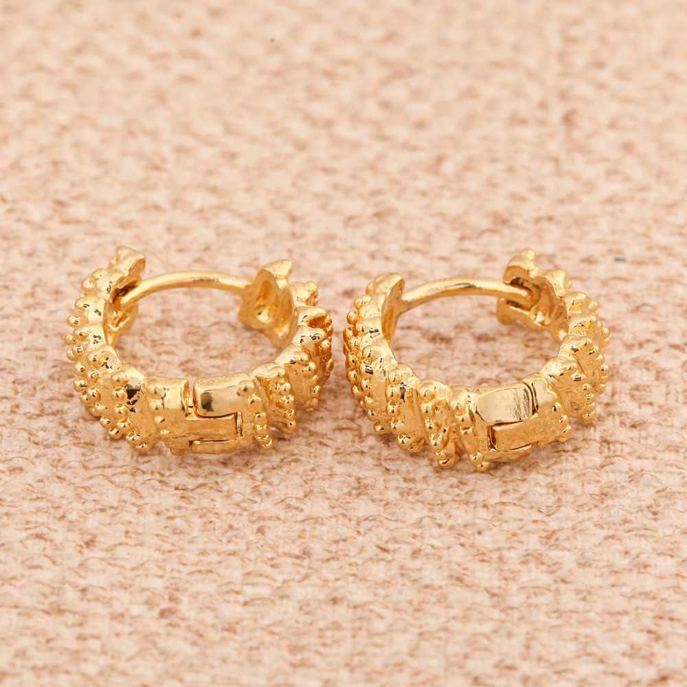 新ファッションでゴールドカラー幾何イヤリングパーティー女性女の子