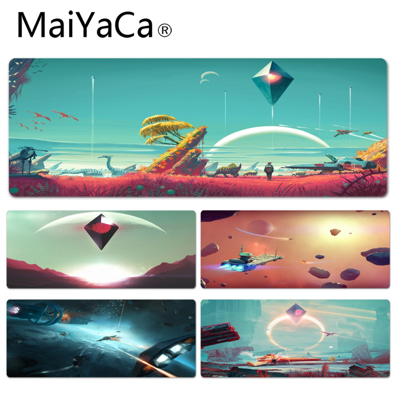 MaiYaCa No Mans Sky Picture Silicone Pad to Mouse Game Size for 30x60x0.2cm Gaming Mousepads