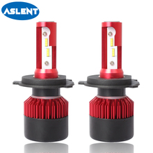 Aslent H4 H7 H11 H8 H9 H1 H3 9005 HB3 HB4 9006 CSP Car LED Headlight Bulbs Hi-Lo Beam 8000LM 6500K Auto Headlamp Fog Light Bulb