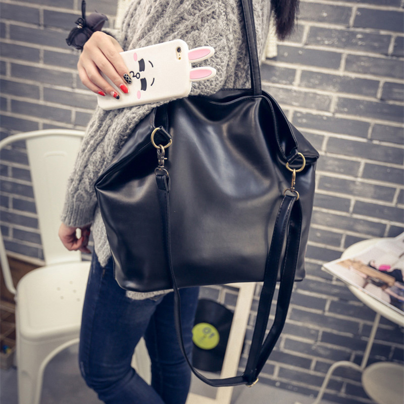 Fashion New Large and cheap women bag high quality PU leather female shoulder bag vintage brown solid handbag for shopping Daily new fashion women brand solid pu leather handbag high quality brown shoulder lady messenger bag vintage crossbody bags