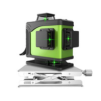 12 Line 16 line3D laser level 360 Vertical And Laser Level Self leveling Cross Line 3D Green Laser Level with outdoor