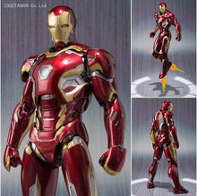New 7″ 18cm Marvel The Avengers Age of Ultron Iron Man Mark 43 Boxed PVC Action Figure Collectible Model Toy