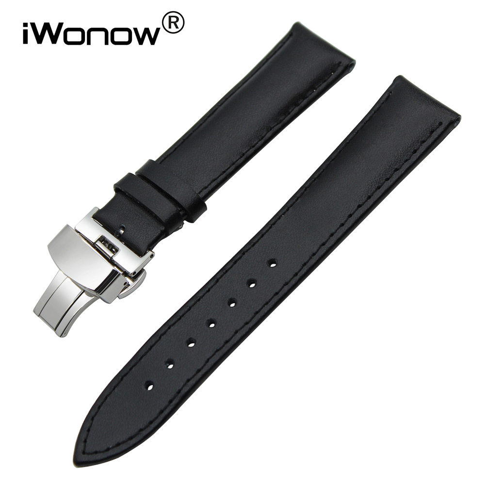 20mm Genuine Leather Watchband for Garmin Vivomove Huawei Watch 2 (Sport) Withings Activite Steel HR 40mm Wrist Band Strap Black garmin vivofit 2