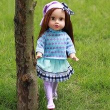45cm Teljes test szilikon Vinyl Babák Reborn Dolls Realistic Alive 18 hüvelykes NewBorn Baby Bonecas Játékok Ajándékok