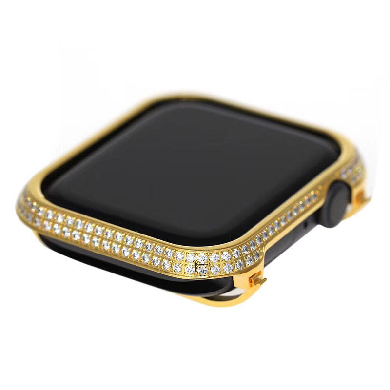 For Apple Watch Series 4 iWatch Luxury Watch Case Hand Made By Crystal Diamond Shell Protect
